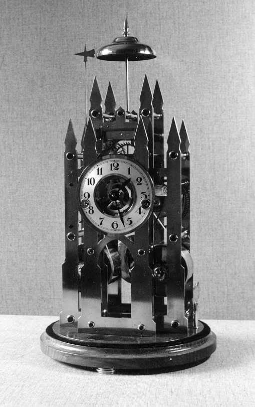 Double Fusee Skeleton Clock